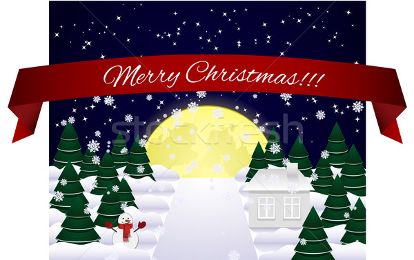 Merry Christmas Card Stock photo © tanya_ivanchuk