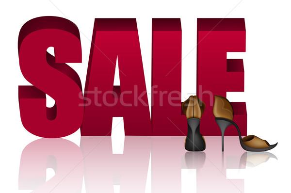 Woorden verkoop gouden sandalen helling Stockfoto © tanya_ivanchuk