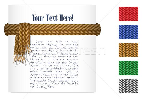 Gebreid sjaal goud kleurrijk texturen Stockfoto © tanya_ivanchuk