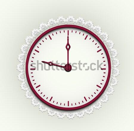 Romantische horloge rond klok tijd zwarte Stockfoto © tanya_ivanchuk