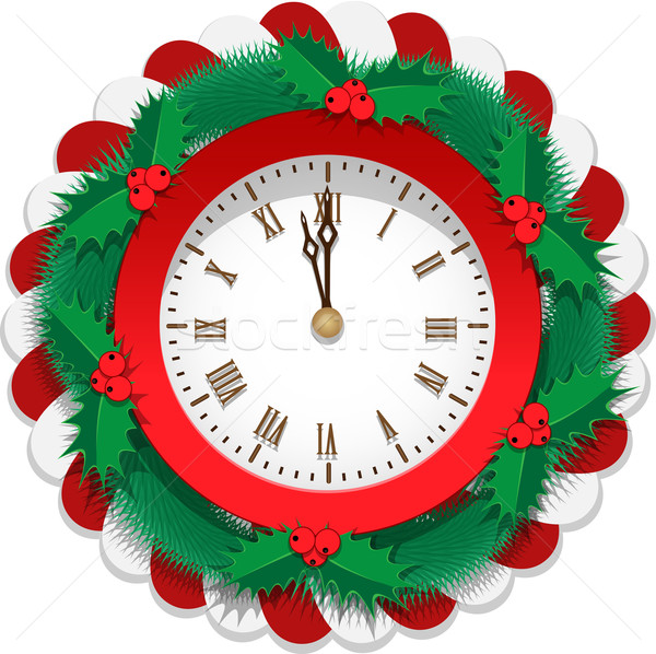 Vliegtuig christmas horloge pine snoep Stockfoto © tanya_ivanchuk