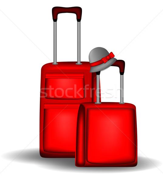 Rood bagage zakken groot klein klaar Stockfoto © tanya_ivanchuk