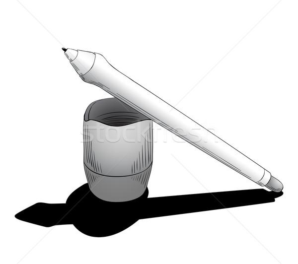 Pen tablet grafisch ontwerp instrument illustratie Stockfoto © tanya_ivanchuk