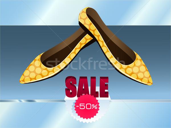 Geel schoenen store plank uitverkocht 50 Stockfoto © tanya_ivanchuk