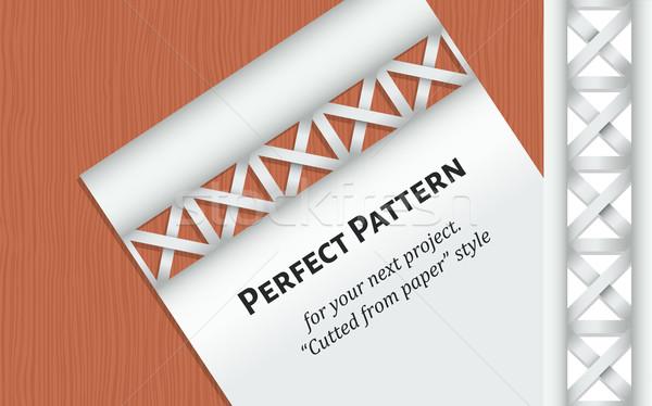 Brief houten tafel patroon mode ontwerp kunst Stockfoto © tanya_ivanchuk
