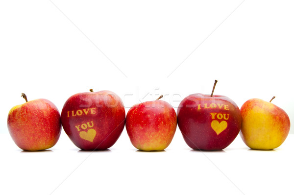 apple with the words 'I love you' arranged in a row Stock photo © tarczas