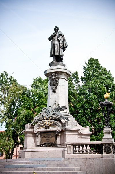 monument of poet Adam Mickiewicz in Warsaw, Poland Stock photo © tarczas