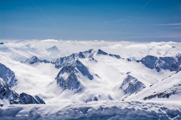 Esquiar recorrer geleira Áustria neve esportes Foto stock © tarczas