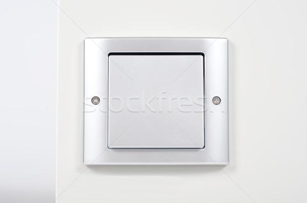 Modernes interrupteur de lumière mur maison lumière Photo stock © tarczas