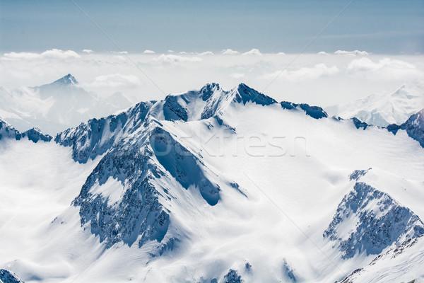 Ski Resort glacier Autriche neige sport Photo stock © tarczas