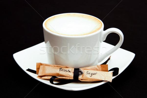Fincan kahve esmer şeker gıda Stok fotoğraf © tarczas