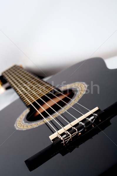 classical acoustic guitar close up Stock photo © tarczas