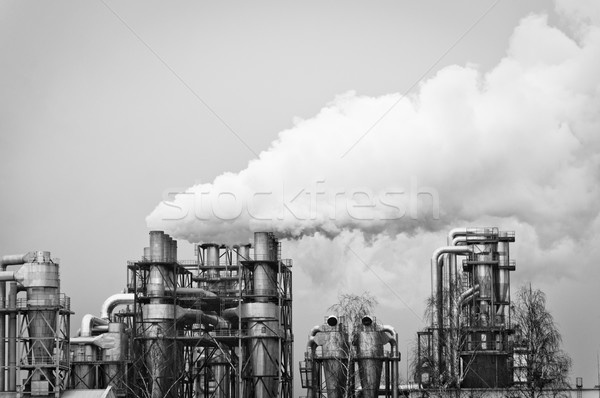 smoke pollution produced by a large factory Stock photo © tarczas