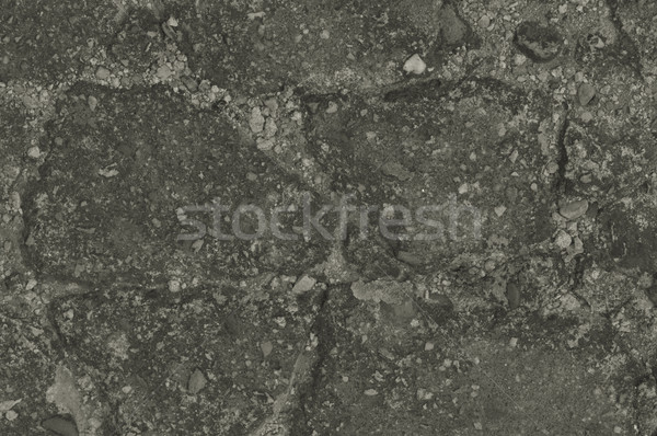 Beschadigd gebarsten asfalt patroon textuur Stockfoto © tarczas