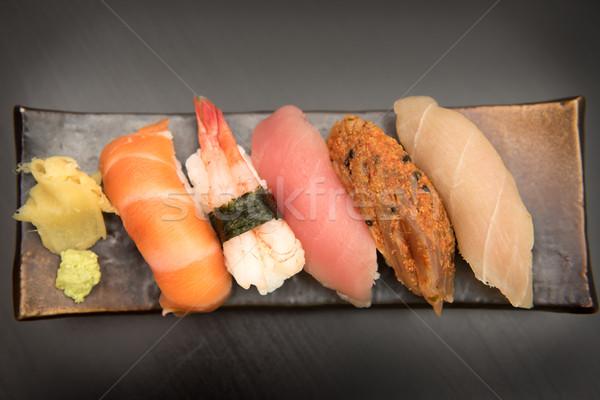 Sashimi sushi ayarlamak gıda balık Stok fotoğraf © tarczas
