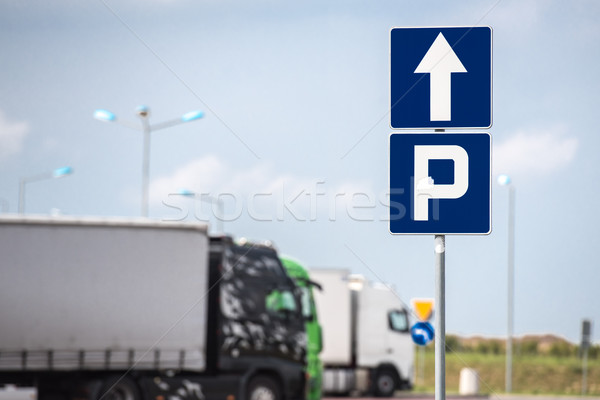 parking sign Stock photo © tarczas