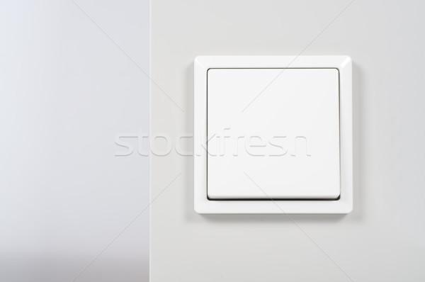 Bianco interruttore della luce muro energia Foto d'archivio © tarczas