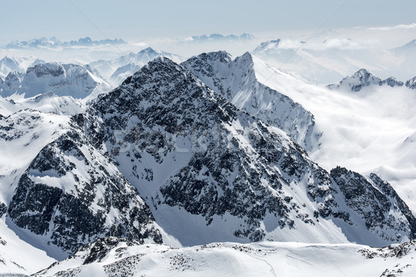 Sci resort ghiacciaio Austria neve sport Foto d'archivio © tarczas