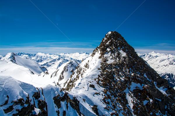 Sí üdülőhely gleccser Ausztria hó sportok Stock fotó © tarczas