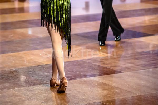Dancers dancing ballroom dance Stock photo © tarczas