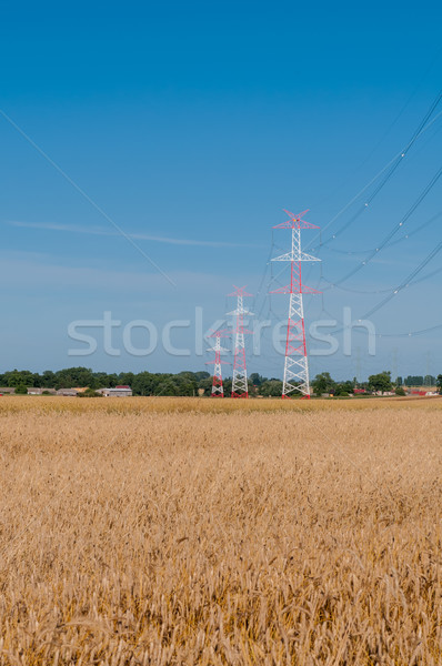 電源 行 都市 工場 産業 シルエット ストックフォト © tarczas