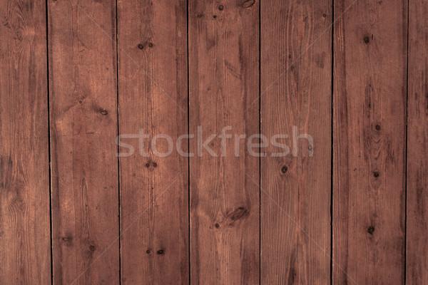 Fa asztal palánk textúra háttér sötét Stock fotó © tarczas
