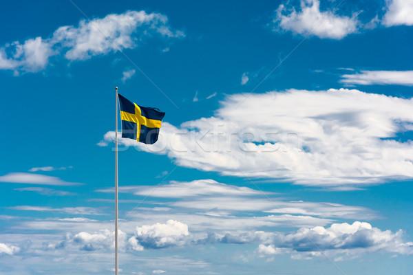 Vlag hemel focus typisch zomer Stockfoto © tarczas
