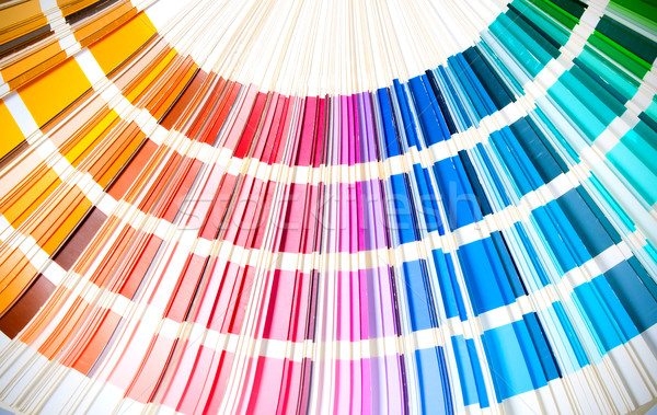coloured swatches book open showing an array of rainbow colours  Stock photo © tarczas