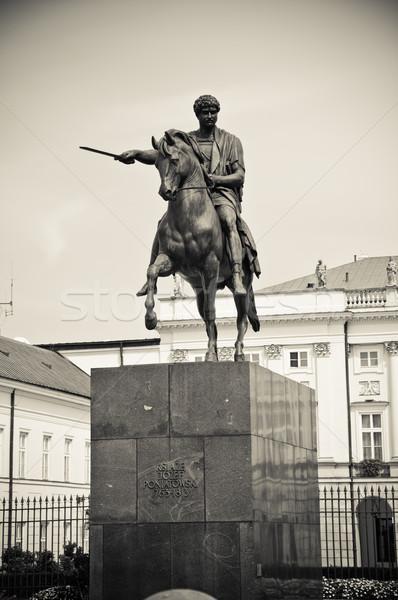 Herceg Varsó Lengyelország Stock fotó © tarczas