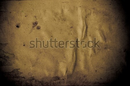 старые темно грубая оберточная бумага бумаги текстуры ретро Сток-фото © tarczas