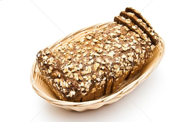 sliced wholemeal bread in wicker basket Stock photo © tarczas