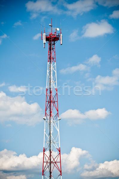 башни Blue Sky синий облачный небе Сток-фото © tarczas