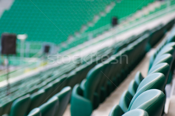 green empty seats at the stadium Stock photo © tarczas