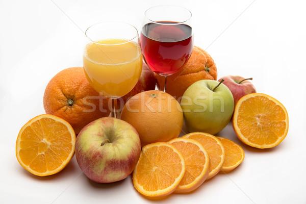 Stock fotó: Friss · narancs · alma · grapefruit · dzsúz · gyümölcsök