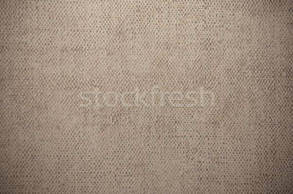Stock photo: brown beige canvas texture or background