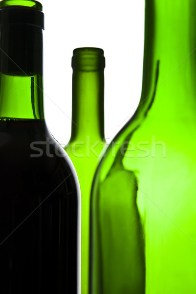 Bor üvegek üveg étterem piros alkohol Stock fotó © tarczas
