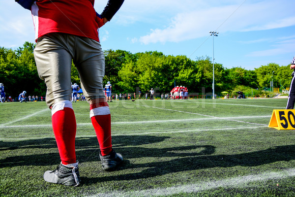 american football game with out of focus players in the background  Stock photo © tarczas