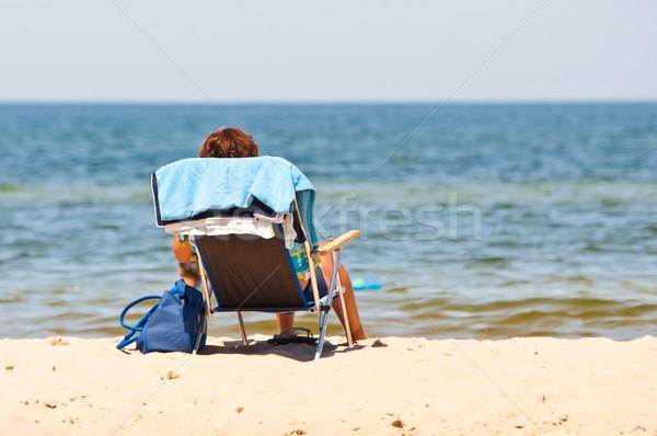 lonely on seashore Stock photo © tarczas