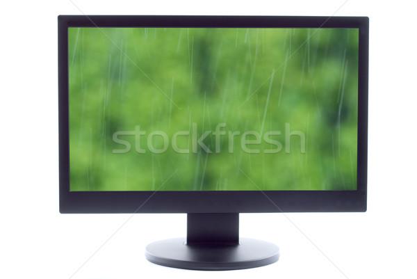 Objętych w dół telewizja ekranu wody Zdjęcia stock © tarczas