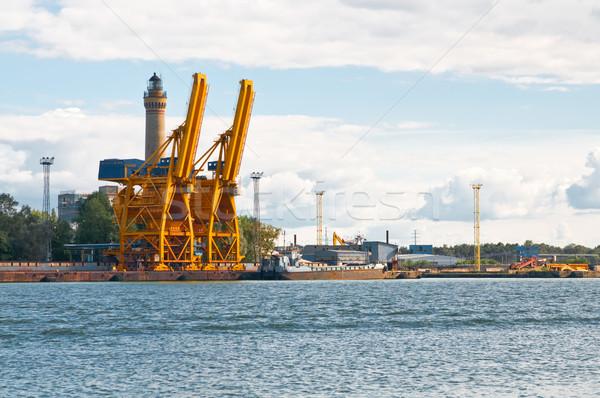 cranes in seaport Stock photo © tarczas