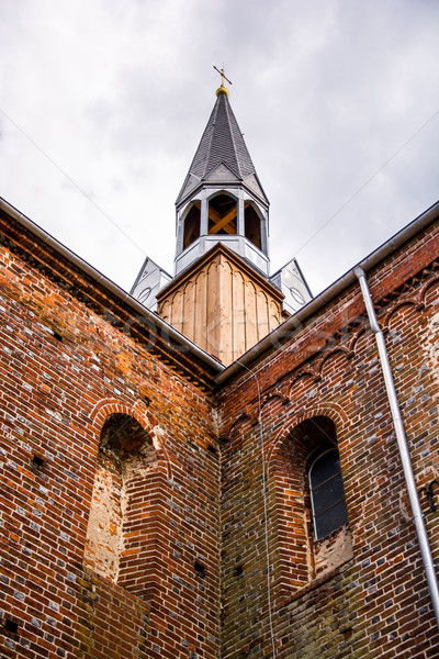 tower of medieval Cistercian monastery in Kolbacz, Poland Stock photo © tarczas