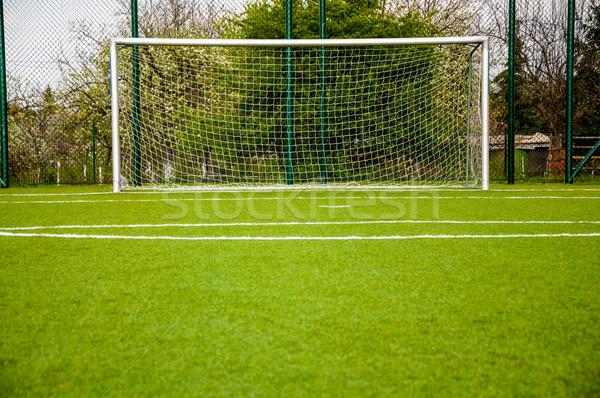 Piłka nożna bramy zielone sportu sąd Zdjęcia stock © tarczas