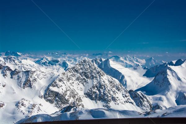 Sí üdülőhely gleccser Ausztria tájkép hegy Stock fotó © tarczas