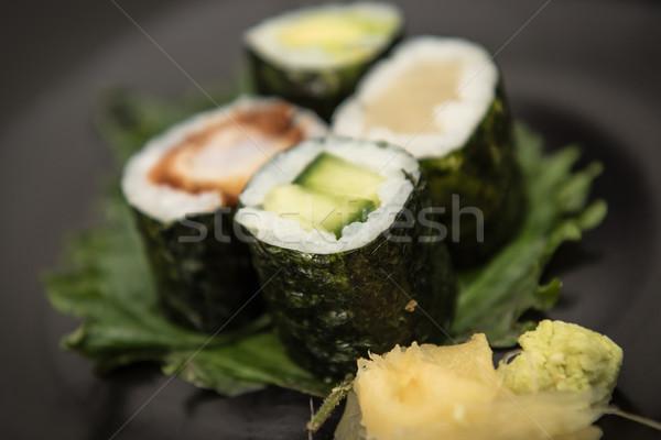 суши маки лосося авокадо Сток-фото © tarczas