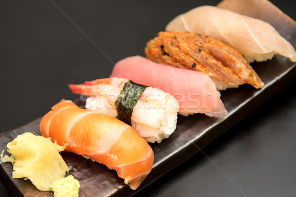 Sashimi sushi set alimentare pesce Foto d'archivio © tarczas