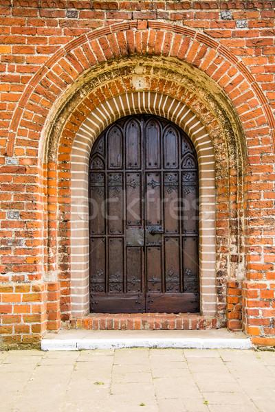 Velho porta medieval mosteiro Polônia Foto stock © tarczas