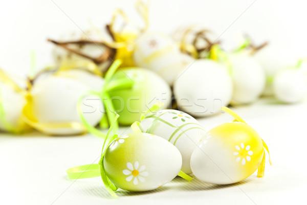 Paaseieren Pasen ei groene vakantie viering Stockfoto © tarczas