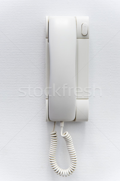 white plastic house intercom on the wall Stock photo © tarczas