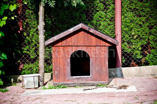wooden doghouse Stock photo © tarczas