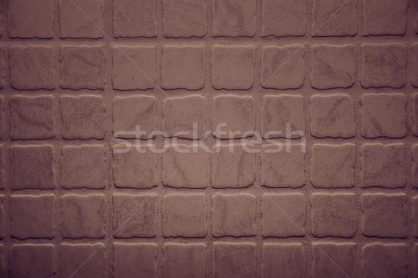 Close up shot of rough terracotta tiles Stock photo © tarczas